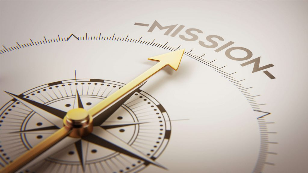 Compass Pointing To The Word Mission